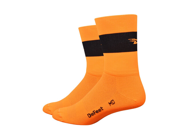 "DeFeet Aireator 5"" Cykelstrømper orange/sort"